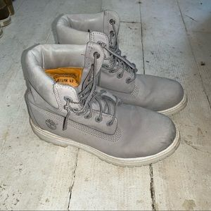 "Timberland 6"" Premium Grey and White"
